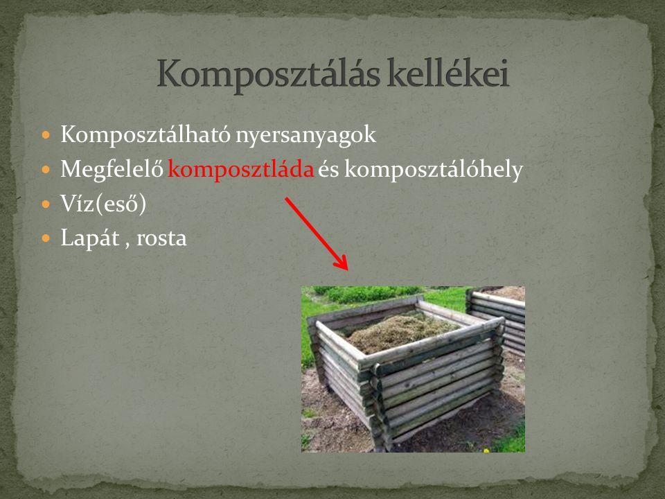 Komposztálás kellékei