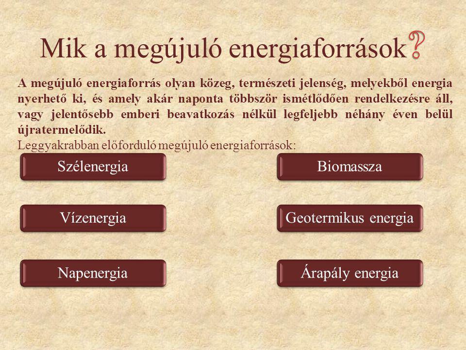 Mik a megújuló energiaforrások