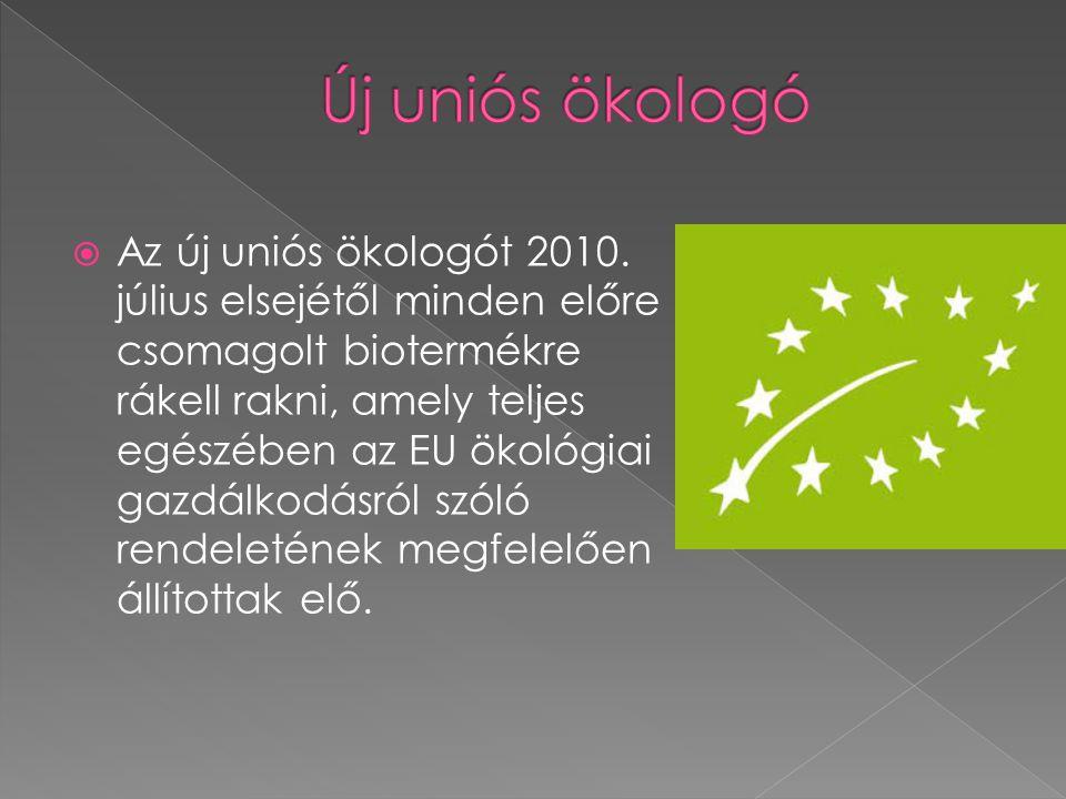 Új uniós ökologó