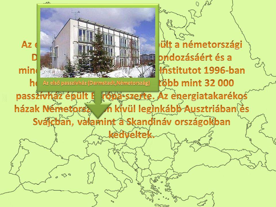 Az első passzívház 1990-ben épült a németországi Darmstadtban