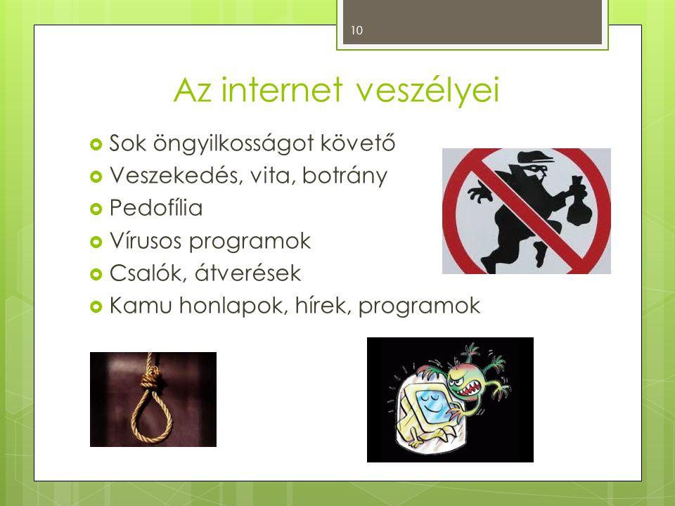 Az internet veszélyei Sok öngyilkosságot követő