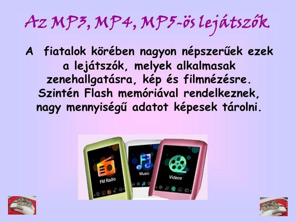 Az MP3, MP4, MP5-ös lejátszók