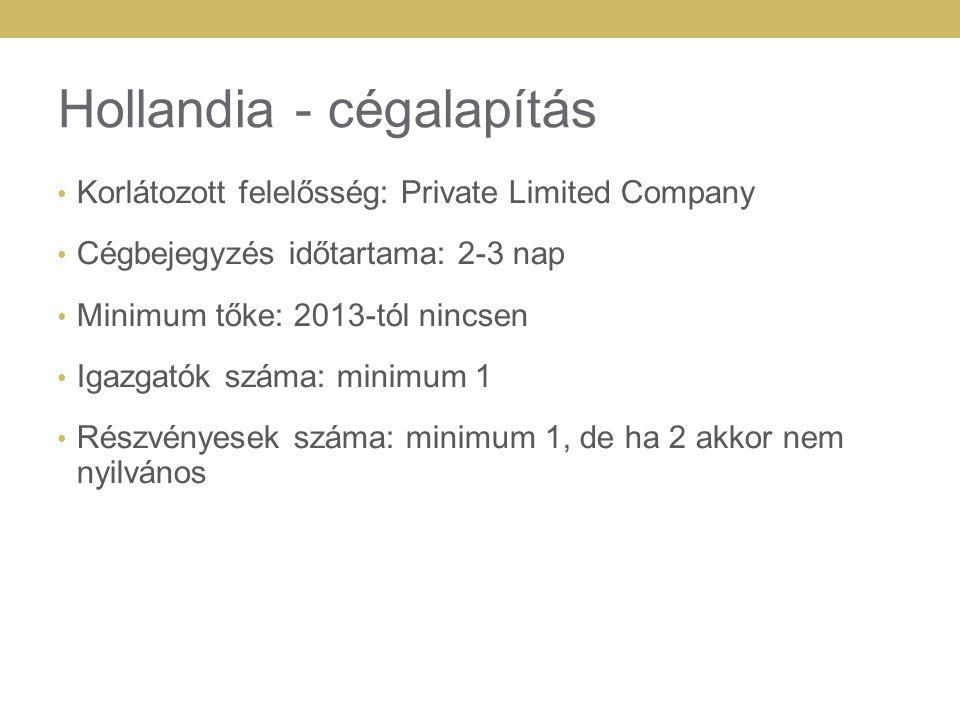 Hollandia - cégalapítás
