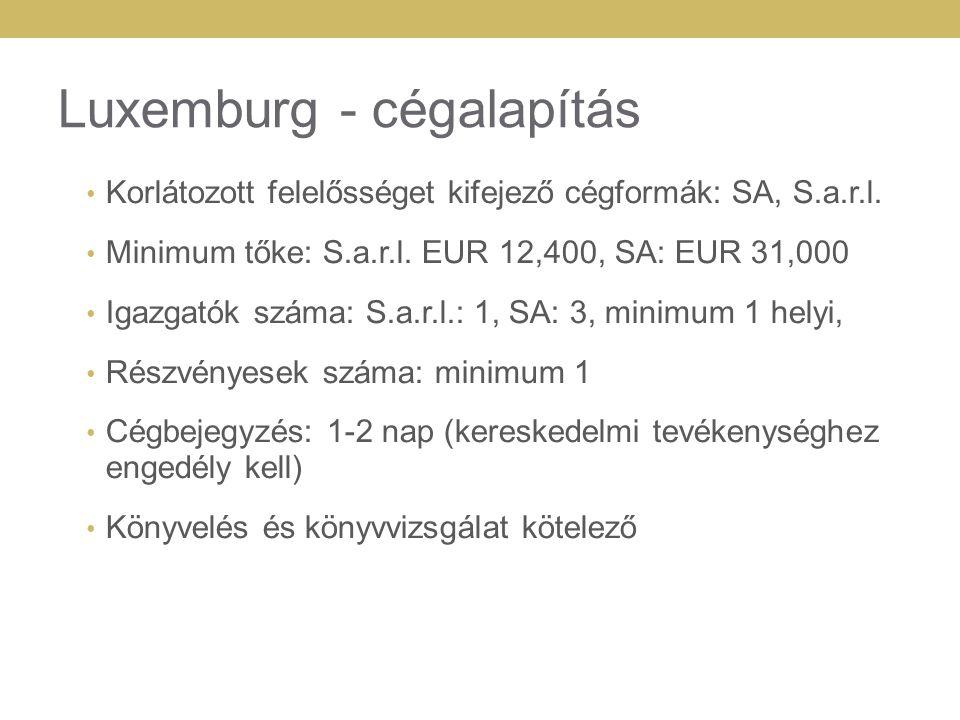 Luxemburg - cégalapítás