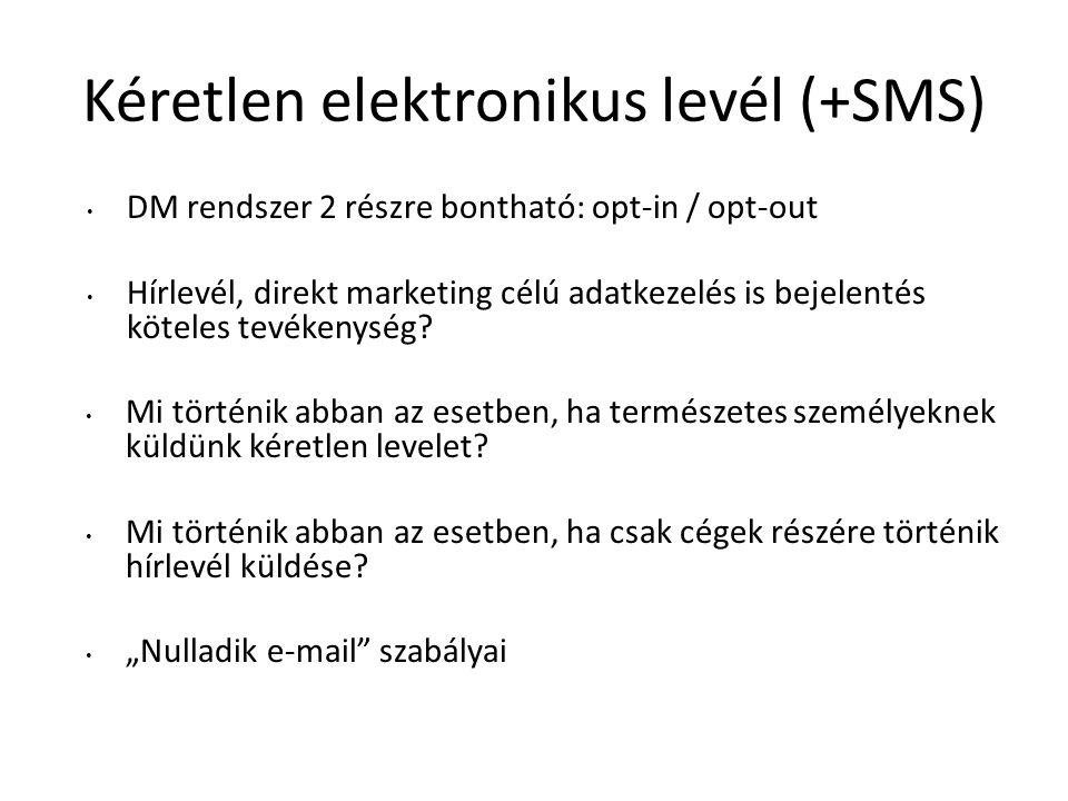 Kéretlen elektronikus levél (+SMS)