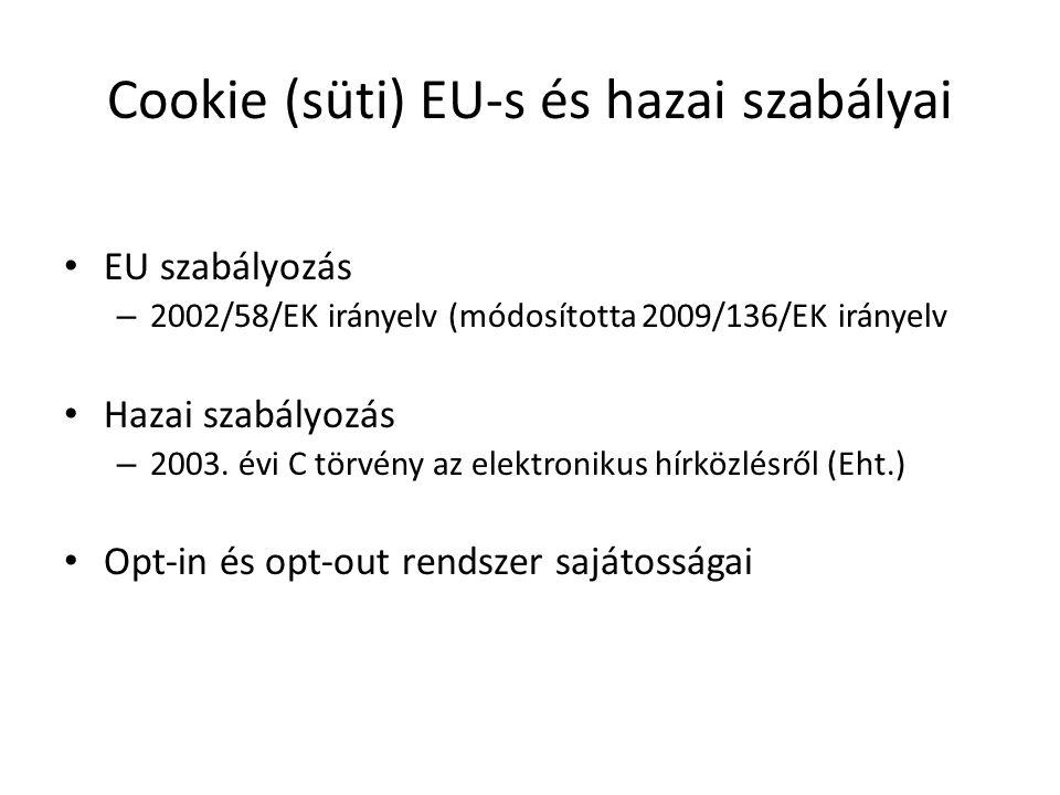 Cookie (süti) EU-s és hazai szabályai
