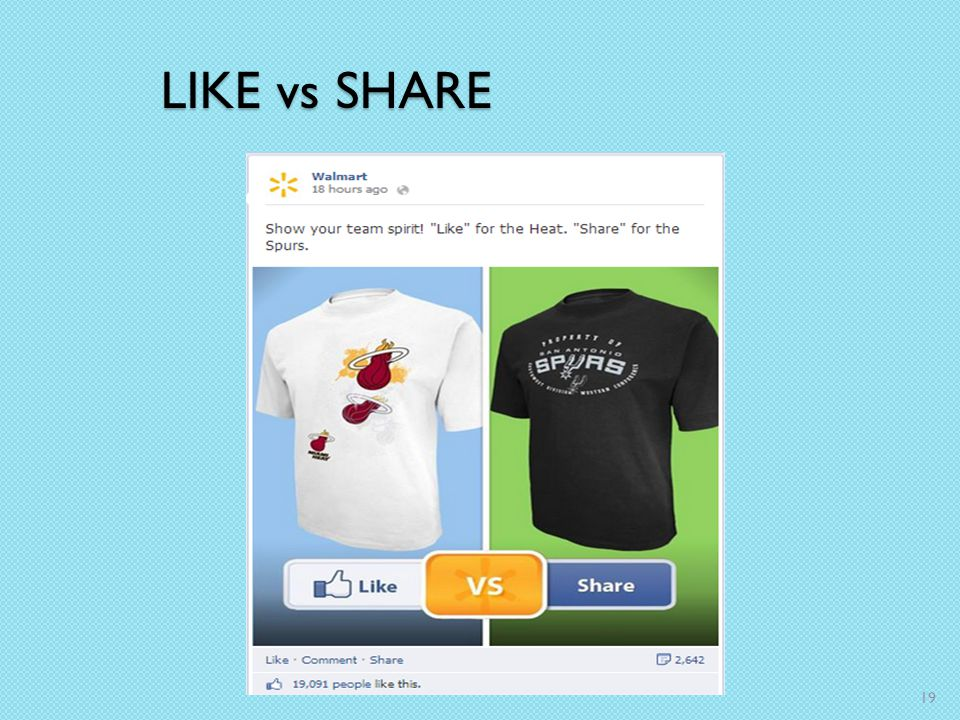 LIKE vs SHARE