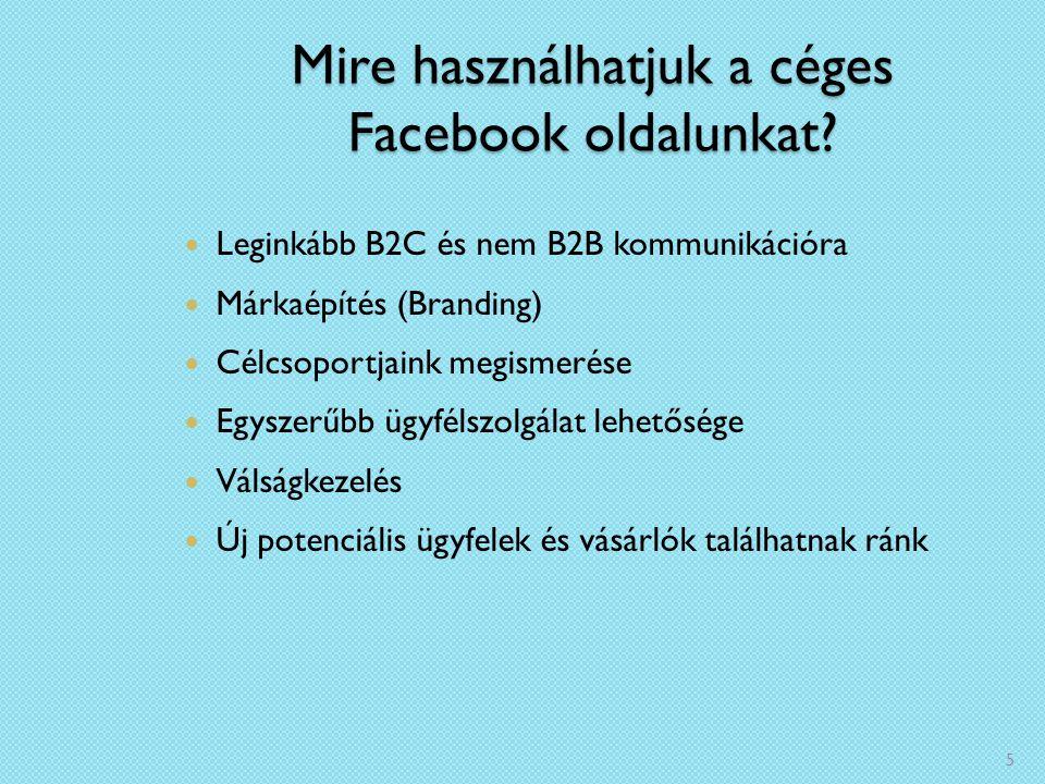 Mire használhatjuk a céges Facebook oldalunkat