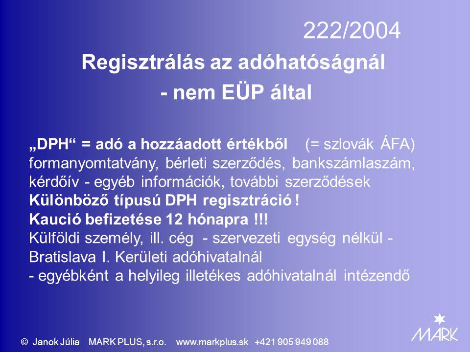 Regisztrálás az adóhatóságnál - nem EÜP által