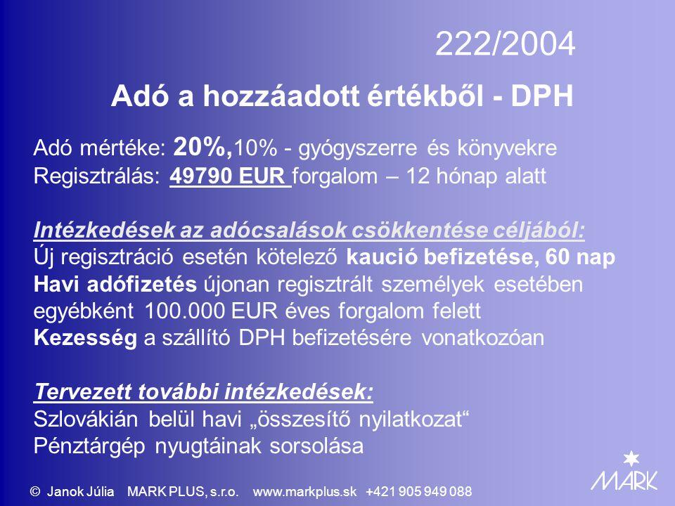 Adó a hozzáadott értékből - DPH