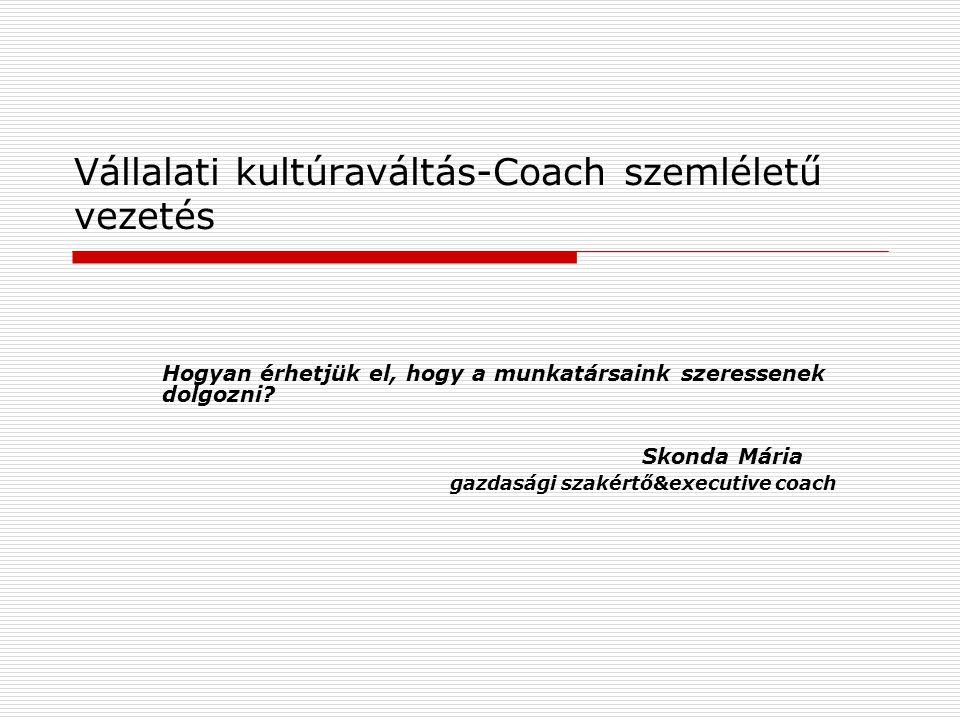 Vállalati kultúraváltás-Coach szemléletű vezetés