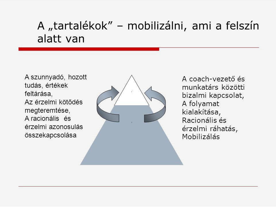 """A """"tartalékok – mobilizálni, ami a felszín alatt van"""