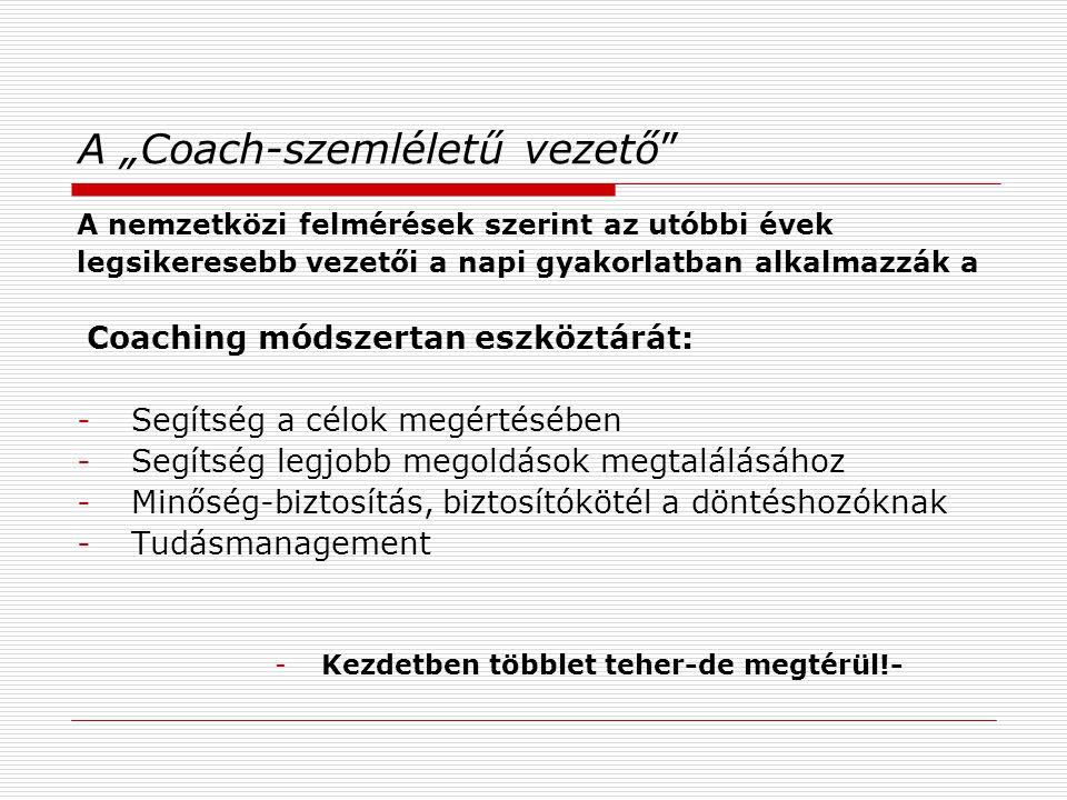 """A """"Coach-szemléletű vezető"""