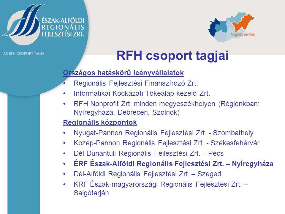 RFH csoport tagjai Országos hatáskörű leányvállalatok