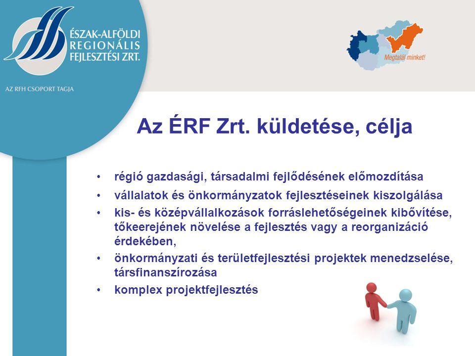 Az ÉRF Zrt. küldetése, célja