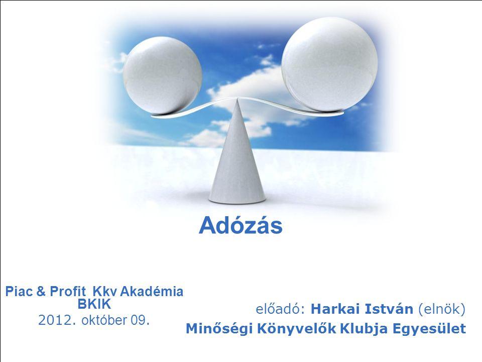 Piac & Profit Kkv Akadémia BKIK 2012. október 09.