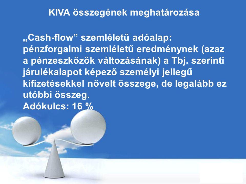 KIVA összegének meghatározása