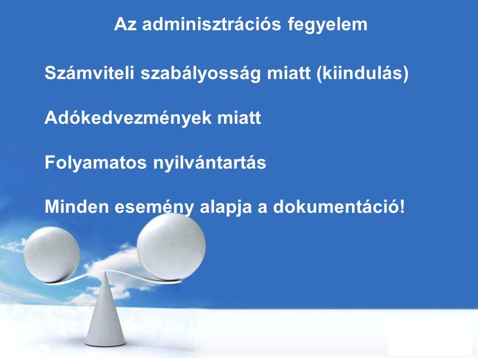 Az adminisztrációs fegyelem
