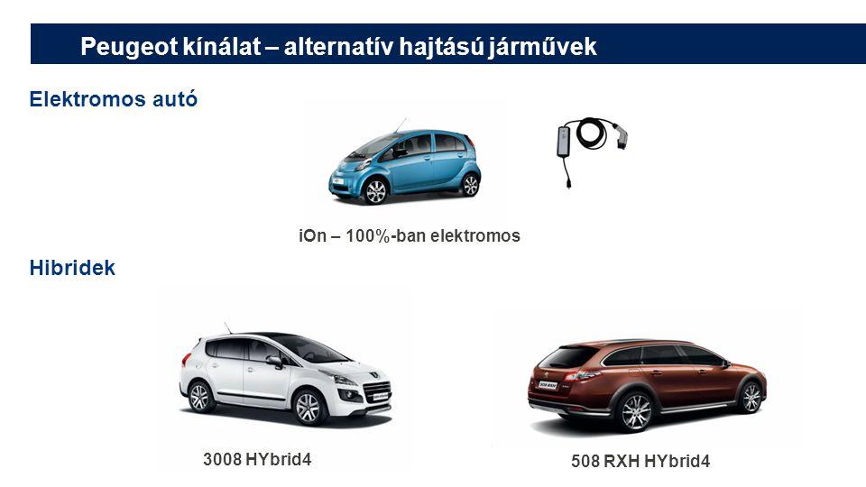 Peugeot kínálat – alternatív hajtású járművek