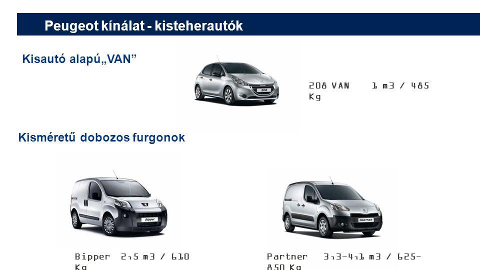 Peugeot kínálat - kisteherautók