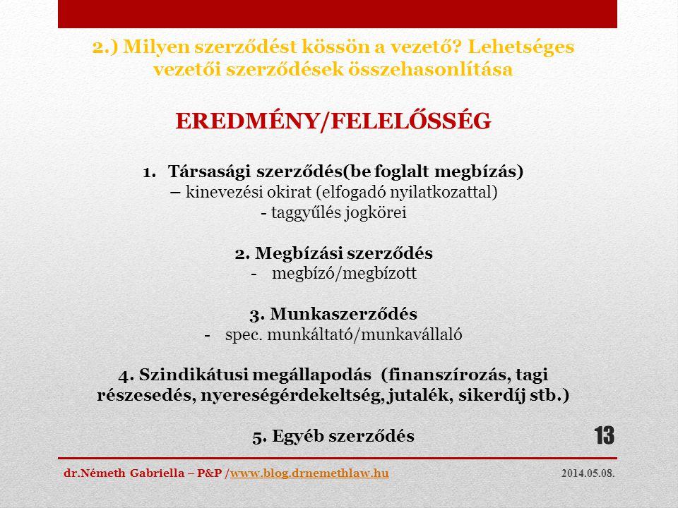 Társasági szerződés(be foglalt megbízás)