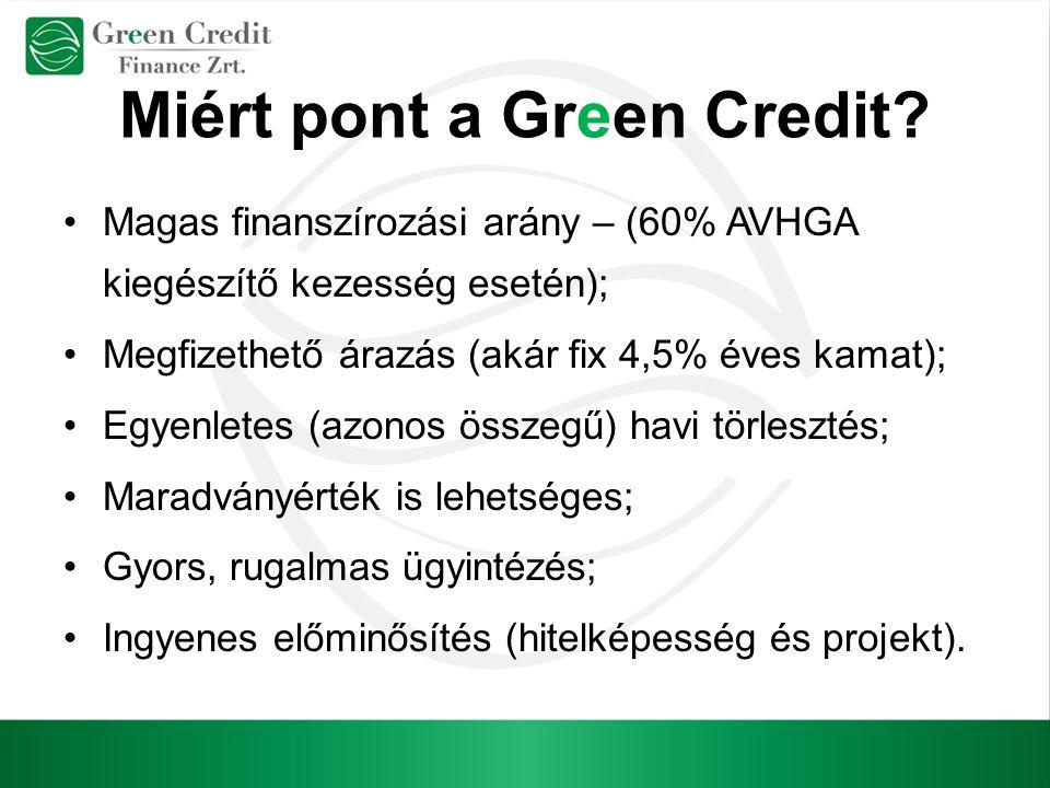 Miért pont a Green Credit