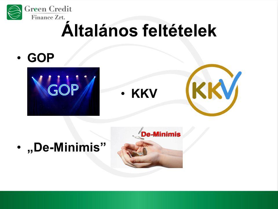 """Általános feltételek GOP KKV """"De-Minimis"""