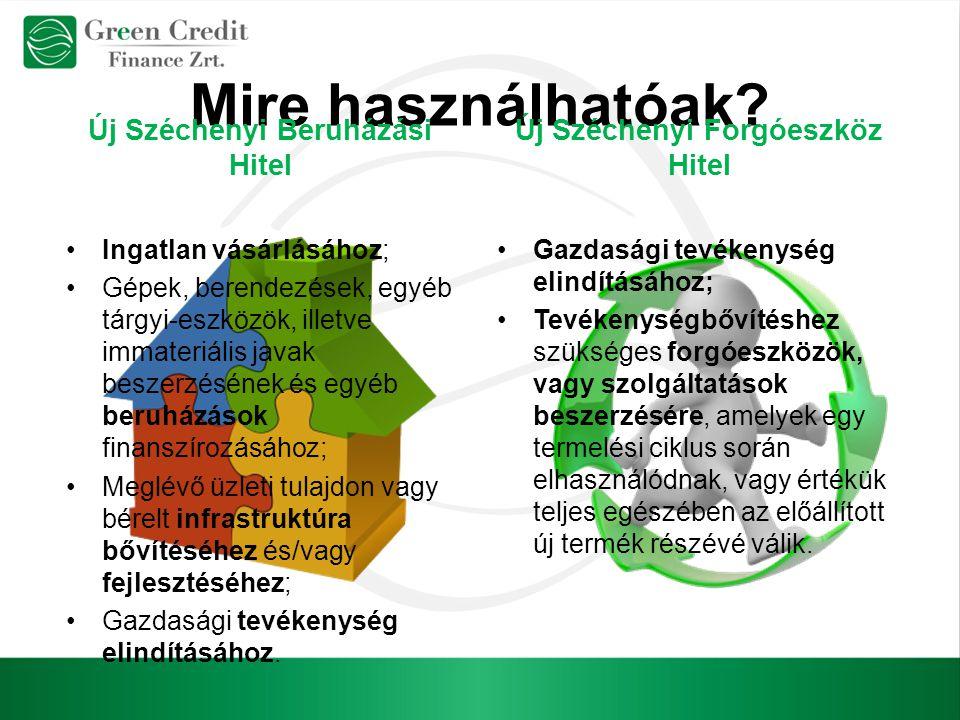 Új Széchenyi Beruházási Hitel Új Széchenyi Forgóeszköz Hitel