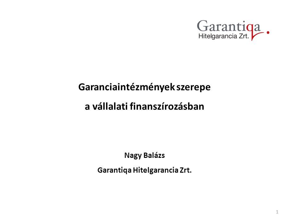 Garanciaintézmények szerepe Garantiqa Hitelgarancia Zrt.