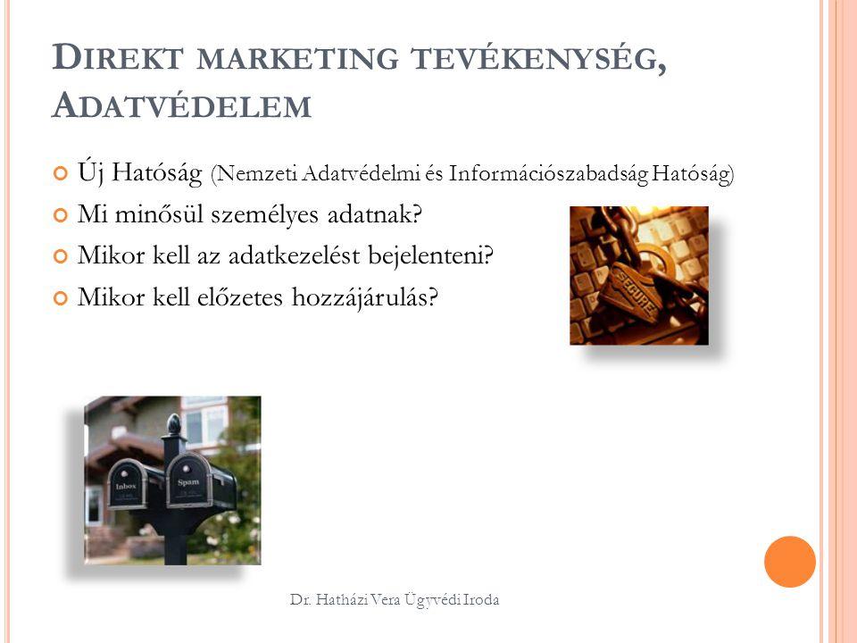 Direkt marketing tevékenység, Adatvédelem