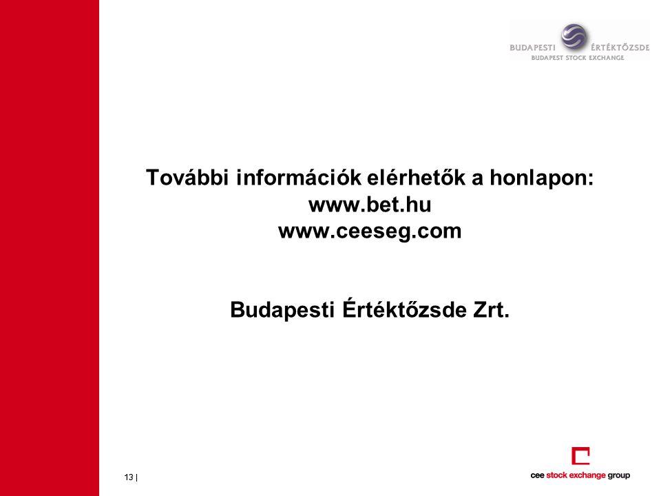 További információk elérhetők a honlapon: www. bet. hu www. ceeseg
