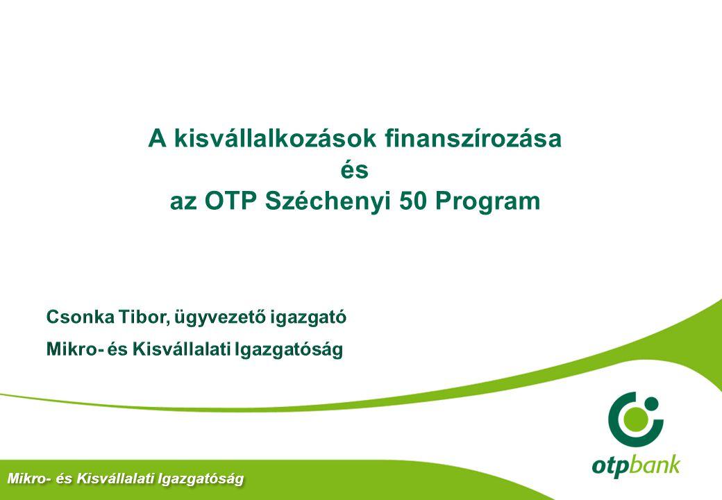 A kisvállalkozások finanszírozása és az OTP Széchenyi 50 Program