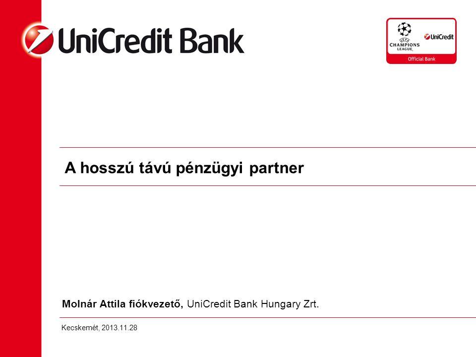 Molnár Attila fiókvezető, UniCredit Bank Hungary Zrt.
