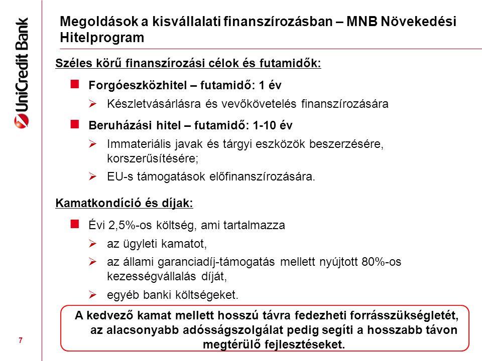 Megoldások a kisvállalati finanszírozásban – MNB Növekedési Hitelprogram