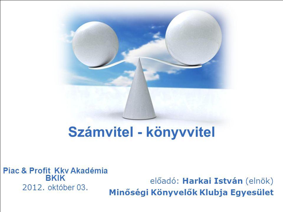Piac & Profit Kkv Akadémia BKIK 2012. október 03.
