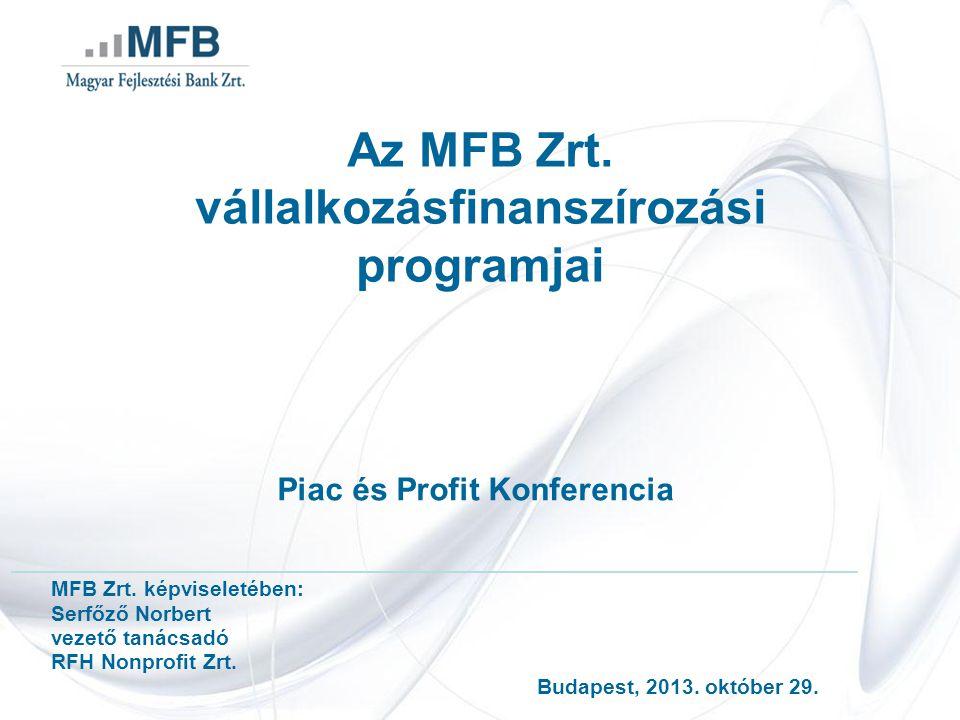 Az MFB Zrt. vállalkozásfinanszírozási programjai