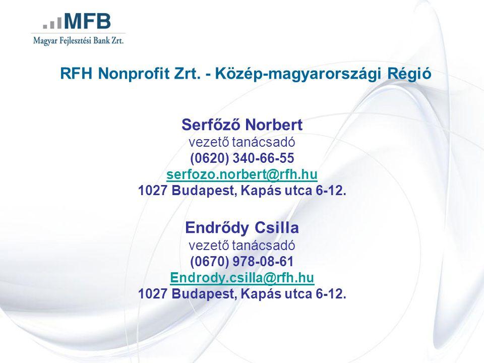 RFH Nonprofit Zrt. - Közép-magyarországi Régió