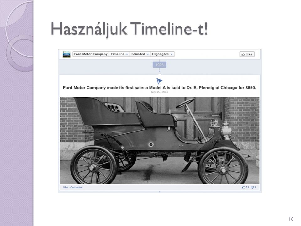 Használjuk Timeline-t!