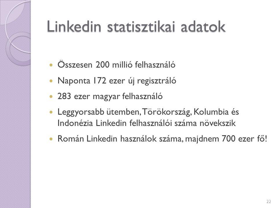 Linkedin statisztikai adatok