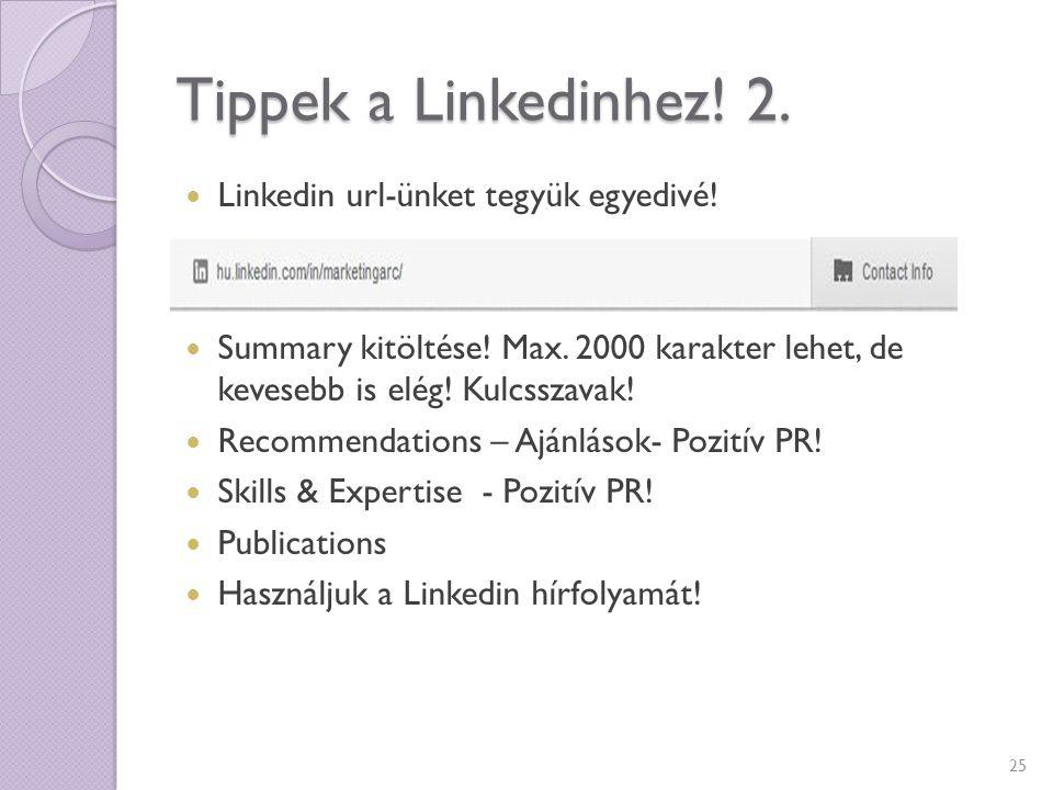 Tippek a Linkedinhez! 2. Linkedin url-ünket tegyük egyedivé!