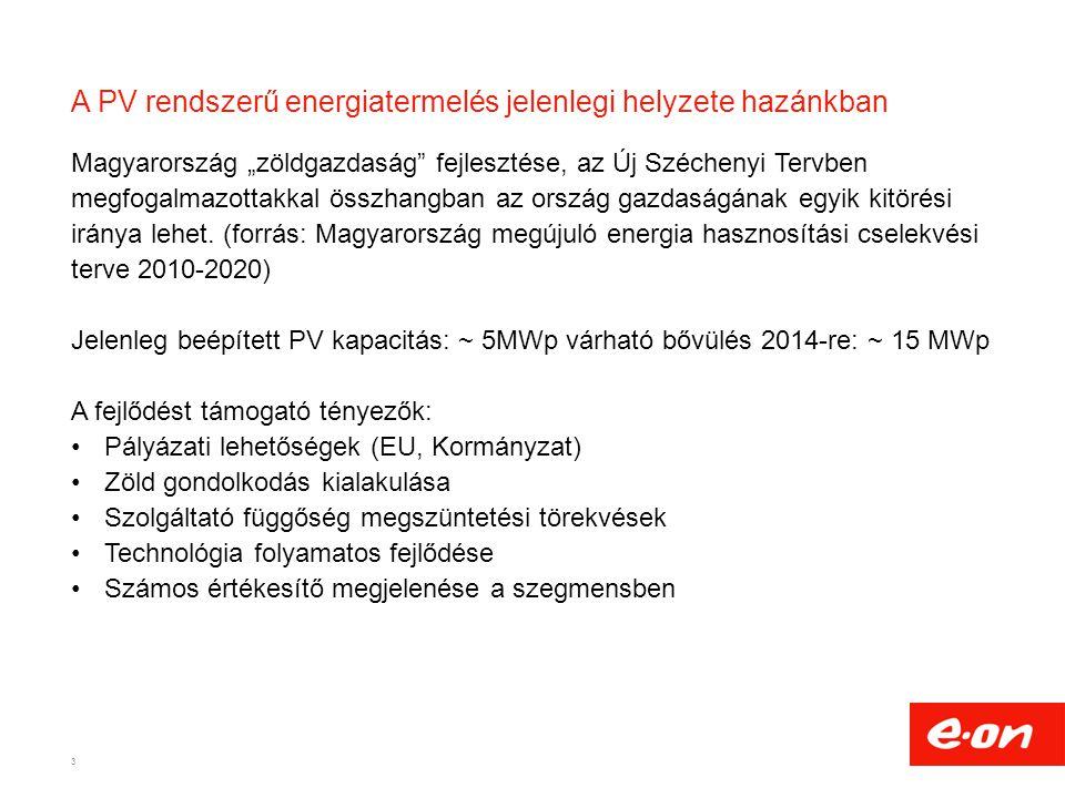 A PV rendszerű energiatermelés jelenlegi helyzete hazánkban