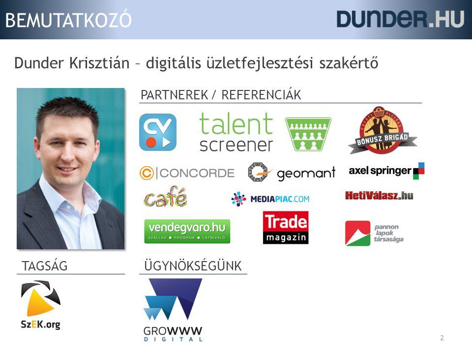 BEMUTATKOZÓ Dunder Krisztián – digitális üzletfejlesztési szakértő