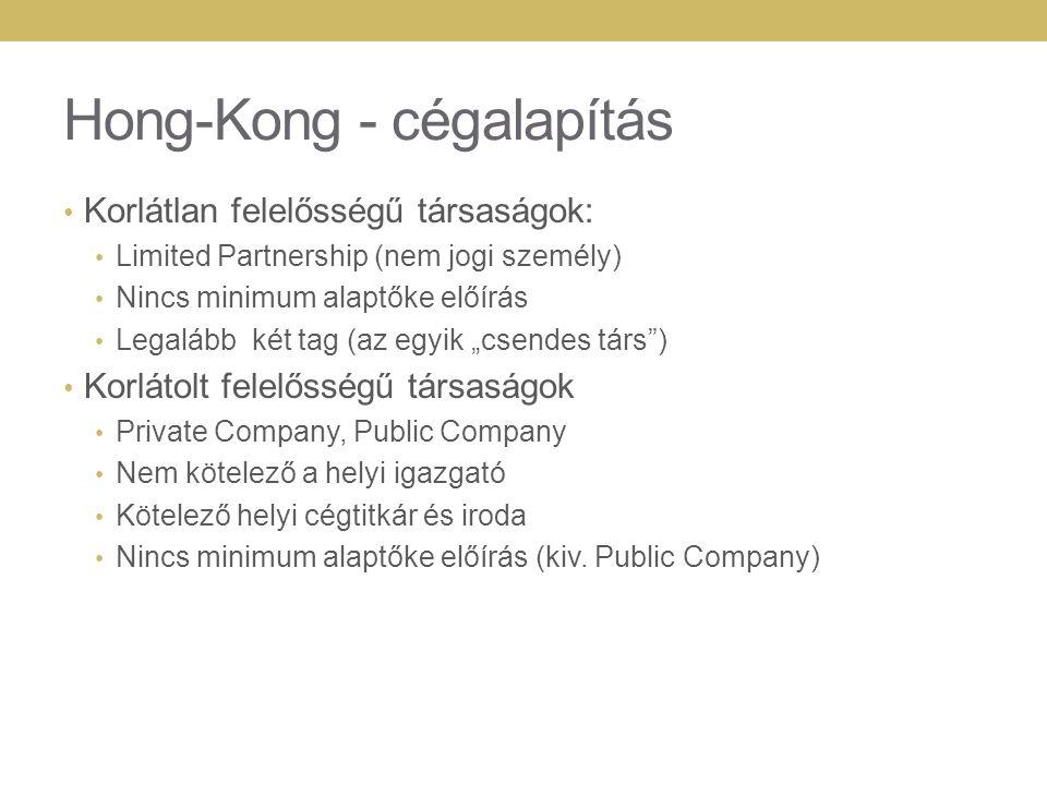 Hong-Kong - cégalapítás
