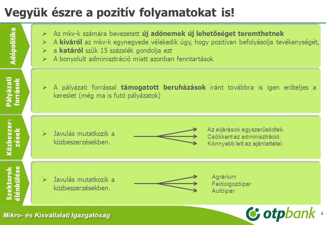 Vegyük észre a pozitív folyamatokat is!