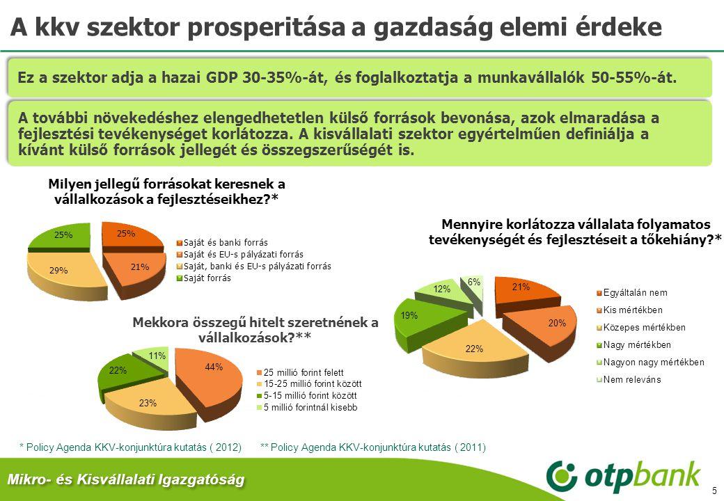 A kkv szektor prosperitása a gazdaság elemi érdeke