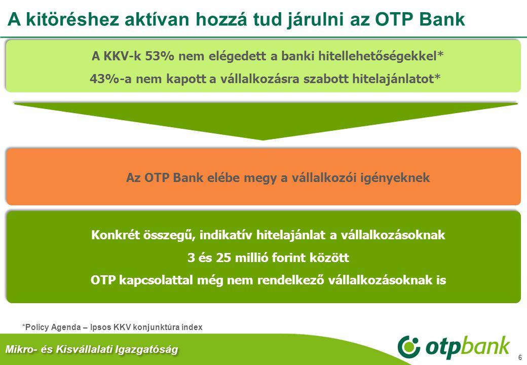 A kitöréshez aktívan hozzá tud járulni az OTP Bank