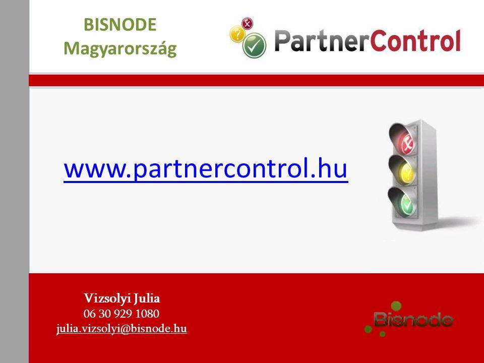 www.partnercontrol.hu BISNODE Magyarország Vizsolyi Julia