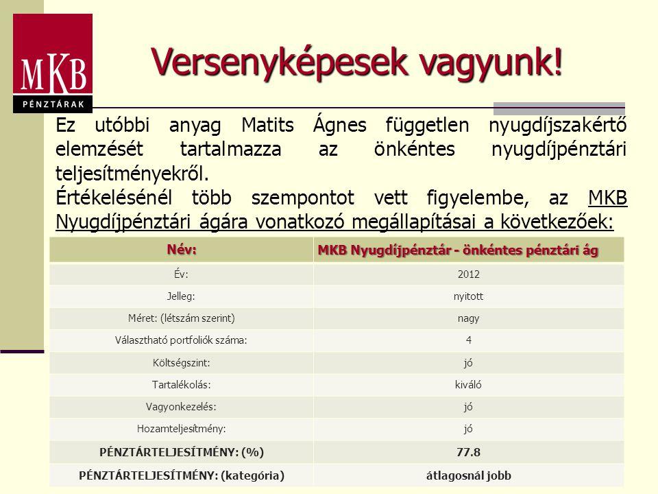 PÉNZTÁRTELJESÍTMÉNY: (%) PÉNZTÁRTELJESÍTMÉNY: (kategória)