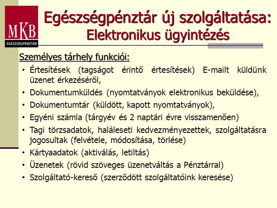 Egészségpénztár új szolgáltatása: Elektronikus ügyintézés