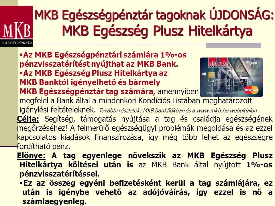 MKB Egészség Plusz Hitelkártya